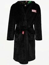 Marvel Avengers Black Soft Fleece Dressing Gown /Bath Robe Size L