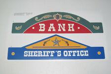 "Playmobil Pièce Rechange Stickers Cowboy Farwest Bank & Sheriff""s Office"