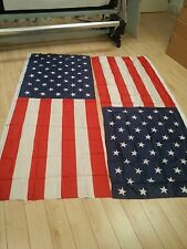 """LOT OF 5 USA FLAGS 84"""" X 33"""" WHOLESALE DESIGN #2  FREE SHIPPING SUPER PRICE!!!!"""