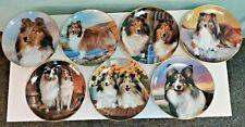 Danbury Mint Shetland Sheepdog Sheltie Plates Lot of 7 Rare Only One on eBay