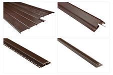 Kunststoffpaneele und Zubehör braun PVC Wandverkleidung Dachkasten Blende Soffit