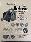 1960's Vintage Barbershop Campbell's Barber Vac MODEL Sign Ad