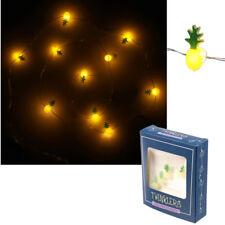 LED Lichterkette Ananas Tropisch Lichtgirlande Leuchtdeko Dekolicht Bad 1,20 m