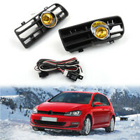 1Pair Yellow Front Parrilla Niebla Luz Lower Grill Para VW Golf MK4 GTI/TDI A