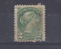 Canada QV 1871 2c Green SG57a VFU J3167
