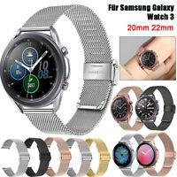 Für Samsung Galaxy Watch 3 41mm 45mm Milanese Uhrenarmband Edelstahl Wrist Strap