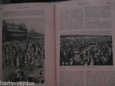 Croquet Royal Ascot Horseracing Real Tennis Lawn Cricket Antique Article 1906