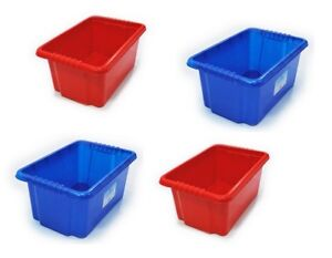 STACK N STORE PLASTIC STORAGE BOX  BINS STACKABLE NESTABLE 7 13,24, 35 LITRE