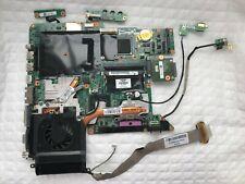 HP DV9500 DV9600 DV9700 Motherboard 447983-001 Intel CPU Heat Sink Fan Ports Cab