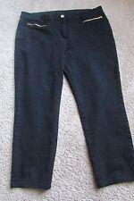 Black Chico's SO SLIMMING Cotton Rayon Spandex Ankle Pants Sz XL (16) NEW