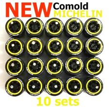 1/64 tires Comold yellow ring rim fit Hot Wheels Mazda diecast - 10 sets