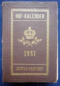 Gothaischer Genealogischer Hofkalender 1881 (Art.3976)