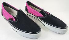 VARIFLEX Of California Vintage Skateboarding Shoes Mens 9 Pink Black Slip On NEW