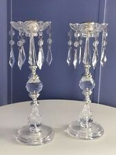 """2 Jeweled Candelabra 11.8"""" Tall Candle Holder Wedding Centerpieces Table Decor"""