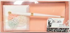 NEW HIS & HERS WEDDING DAY GUEST PEN PEACH SUMMER COLORS