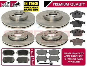 FOR VW TRANSPORTER T5 2.0 TDi FRONT REAR VENTED BRAKE DISCS PAD PADS 09-16