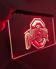 Ohio State LED Sign for Game Room,Office,Bar,Man Cave. BUCKEYES