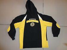 Reebok Embroidered Boston Bruins Hockey NHL Hooded Hoodie Sweatshirt Youth L