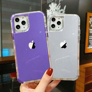 For iPhone 12 11 Pro Max SE2 8 7 6s Shockproof Hybrid Bumper Matte Case Cover