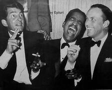 THE RAT PACK  DEAN MARTIN SAMMY DAVIS, JR. & FRANK SINATRA - 8X10 PHOTO