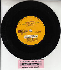 """BUDDY HOLLY It Doesn't Matter Anymore & Raining In My Heart 7"""" 45 record RARE!"""