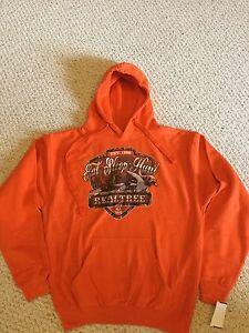 Men's Realtree Max 5 Orange Hooded Sweatshirt. Size Medium. NWT
