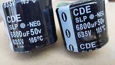 Cornell Dubilier SLP682M050E9P3 Capacitor Alum Elec 6800Uf 50V 20% Snap-In 105 c