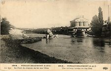 CPA Militaire, Persan Beaumont - Le Pont du chemin (278648)