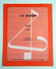 Partition vintage sheet music BAIN DE MER : Le Héros * 1987 HEIMBURGER SANDRA