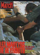 paris match n°1797 beyrouth johnny hallyday baye