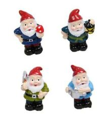 Fairy Garden Micro Miniature Gnome Set Of 4 Also Great Fro Cake Toppers