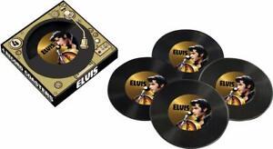 Elvis Presley '68 Vinyl Drinks Coasters Set (nm)