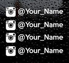 4 X Divertido JDM deriva su nombre en Instagram Euro Vinilo Calcomanía Auto Adhesivo Ventana Vw