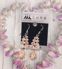 Zircon Elegant Flowing Bling Shine Earrings Hang Ladies Party Woman Gift For Her