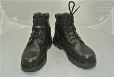 CATERPILLAR BLACK LEATHER BOOTS (UK SIZE 7) WALKING MACHINES