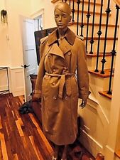 Aquascutum Trench Winter/Rain WOOL lining Camel Signature Coat L/XL chest 46""