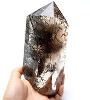 1064g Natural Clear Quartz Hair Rutilated Crystal Plished point Specimen