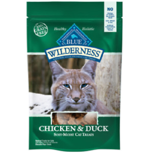 Blue Buffalo Wilderness CHICKEN/DUCK Cat Treats 2 oz Healthy Holistic Grain Free