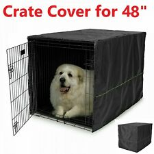 "48"" Extra Large Giant Breed Dog Crate Kennel COVER XL Pet Wire Cage Huge Folding"