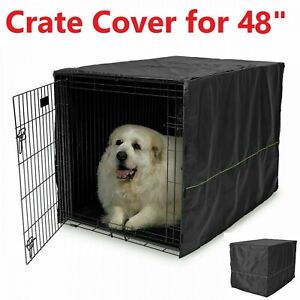 """48"""" Extra Large Giant Breed Dog Crate Kennel COVER XL Pet Wire Cage Huge Folding"""