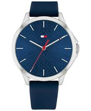 Tommy Hilfiger Women's Navy Blue Silicone Strap Watch Water Resistant 30 ATM NEW