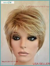 Synthetic Short Hair Wig for Women  Color Wheat Blond Cute Easy Style 1187