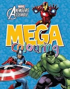 Boys / Kids Marvel Avengers Mega Colouring book by parragon 2015 Paperback New!!