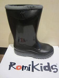 Romika Schneestiefel 5001 Gummistiefel stiefel Boots warm gefüttert schwarz PVC