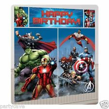 AVENGERS SUPER HERO BOYS BIRTHDAY PARTY WALL SCENE SETTER PHOTO PROP DECORATION