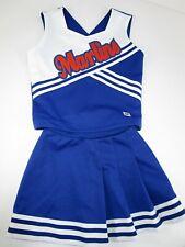"Child Marlins Cheerleader Uniform Outfit Costume 30"" Top 20 Elastic Waist Skirt"