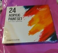 Artlicious - 24 Tube Acrylic Paint Set - Great for Canvas Panels Boards & Str...