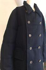 Homme bleu marine bleu faconnable manteau taille xxl grand objet