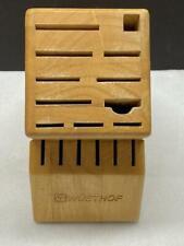 Wustof 17 Slot Wood Block Holder Counter Cutlery Storage Kitchen Knives 7267-1
