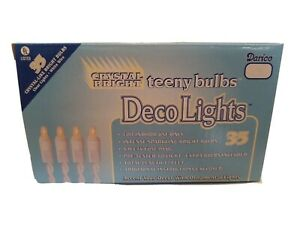 Brand New Deco Lights Teeny Bulbs Clear Light 35 Lights 12 Ft White Cord LT3503